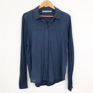 Michael Starts Viole Mix Navy Button Down Sleeves